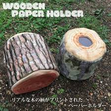 real print paper dispenser toilet paper forest outdoor indoor present impact interesting miscellaneous goods parody convenient fashion wood woodwork log