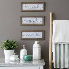 Bathroom wall decor pictures Gray Piece Wash Brush Comb Wall Décor Set set Of 3 Birch Lane Wall Decor Birch Lane