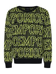 <b>Emporio Armani</b> черный <b>джемпер</b> из хлопка с узором (513351 ...