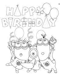 Happy Birthday Color Pages Creative Decoration Happy Birthday