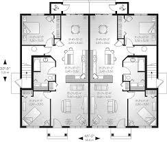 multi family house plans semi detached triplex