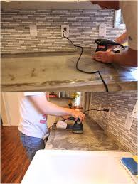 sanding concrete countertops countertops0013 how to reseal and remove stains from concrete countertops0010 sanding concrete countertops with sandpaper