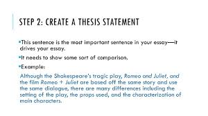 how to write a compare contrast essay ppt video online  step 2 create a thesis statement