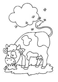 Coloriage Vache Mouches Sur Hugolescargot Com
