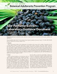 (PDF) <b>Saw Palmetto</b> Extract Laboratory Guidance Document