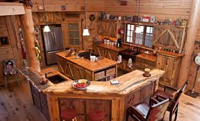 rustic cabin kitchens. Log Cabin Kitchen With Unique Cabinetry Rustic Kitchens E