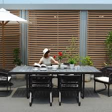 sjy outdoor series synthetic rattan orland dining table 01 an interior corigge market
