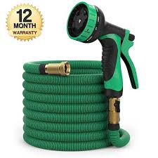 best expandable garden hose. BEST RETRACTABLE GARDEN HOSE: 100 Ft Hose - Expandable Garden Heavy Duty Flexible Water With 9-Pattern Spray Nozzle And Storage Bag Best