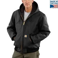 men s 3 xl black cotton quilted flannel lined duck active jacket