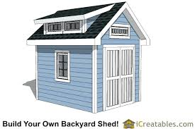 8x10 shed plans diy cost storage wood