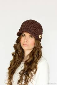 Crochet Newsboy Hat Pattern Delectable Brown Crochet Newsboy Hat Pattern FaveCrafts
