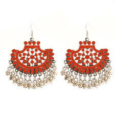 adorable afghan chandelier earrings