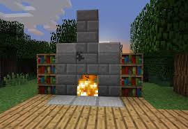 Minecraft Fireplace Mod 172 Chimney Pe  SuzannawintercomFireplace In Minecraft
