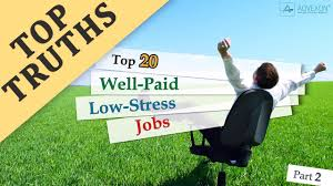 Top 20 Well Paid Low Stress Jobs Part 2 Youtube