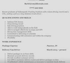 Magnificent Courier Driver Resume Template Collection