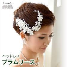 ヘッドドレス 髪飾り プラムリース 造花 ヘアアクセ 結婚式 ヘア