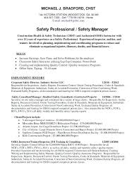 Mining Safety Manager Sample Resume Amazing Safety Officer Resume 44 Construction Safety Officer Resume Format
