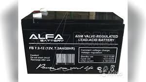<b>Аккумулятор alfa battery</b> FB 7,2-12 50 шт купить в Новосибирской ...