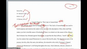 the cask of amontillado analysis essay literary analysis essay on  analysis of stong fiction analysis paper analysis of stong fiction analysis paper
