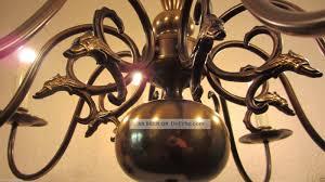Kronleuchter Luster Deckenlampe Hänge Lampe Messing 8
