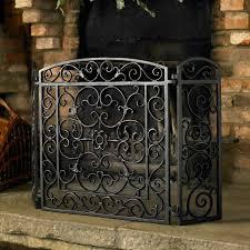 beauteous wrought iron fireplace screen