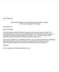 Letter Of Support Sample Template Best Letter Of Financial Support Template Financial Support Letter Sample