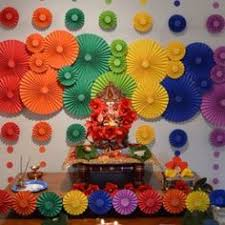 ganpati decoration at home flower pinterest ganesh and