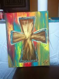 items similar to hand painted stretched canvas cross on