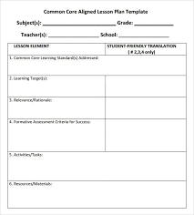 Sample Common Core Lesson Plan Delectable Common Core Lesson Plan Template High School Globalsacredcircle