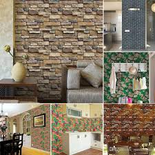 3d stone brick wall stickers home decor vintage diy pvc wallpaper for living room kitchen self adhesive art decorative stickers removable wall decals