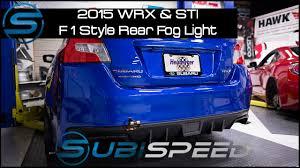 Wrx F1 Fog Light Subispeed 2015 Wrx Sti F1 Style Rear Fog Light