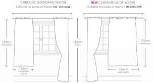curtains standardtain sizes chart for windows rod uktains standard