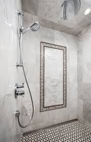 marble shower with line drain