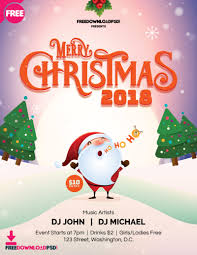 Christmas Brochure Templates Free Party Flyer Template