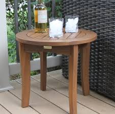Outdoor Interiors Caravelle Wood Side Table Reviews Wayfair