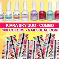 Kiara Sky Gel Matching 168 Colors Free Color Chart