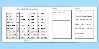 Morse Code Worksheets And Code Breaker Chart Twinkl