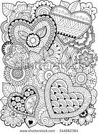 Small Picture Vector coloring book for adult Hearts and flowers Crafting For
