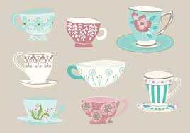 vintage tea cups vector. Unique Tea With Vintage Tea Cups Vector Vecteezy