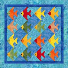 671 best FISH QUILTS/SEALIFE images on Pinterest | Boats ... & Fish1 baby quilt idea, design by Dorte Rasmussen Denmark Adamdwight.com