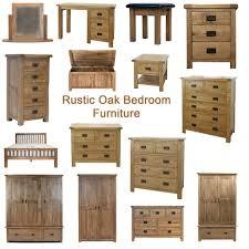 Oak Bedroom Furniture Rustic Solid Oak Bedroom Furniture Ebay