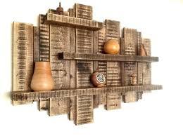 rustic shelving unit wooden shelf wood corner wall units