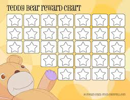 Sticker Reward Chart Printable Free Teddy Bear Reward Chart Free Printable Downloads From