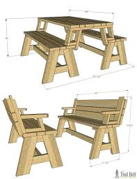 wooden picnic table plans wood childrens free round