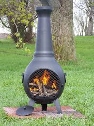 wood burning chiminea outdoor fire pit  dudeiwantthatcom