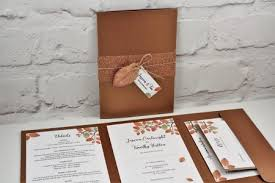 Wedding Invitation Folder Autumn Wedding Invitation Pocketfold Blog
