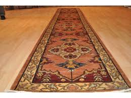 fine quality 14 ft hall runner heriz design vegetable dyed
