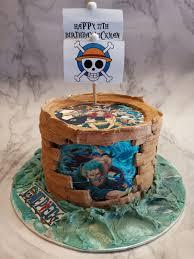 Themed Birthday Cake One Piece Cakescartoon Cakespirate Ship