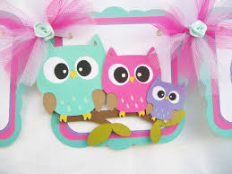 Cute Baby Shower Decorations Owl Family Baby Shower Banner Owl Baby Shower Owl Banner Owl