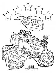 Blaze Coloring Pages With Blaze Coloring Pages Pdf Coloring Page